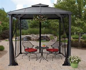 Patio Roofs And Gazebos Metal Roof Gazebo With Netting Top Pergola Canopy 8 X8 Patio Yard Shelter What S It Worth