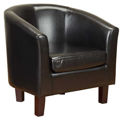 tub chairs and sofas pu leather tub chair in black