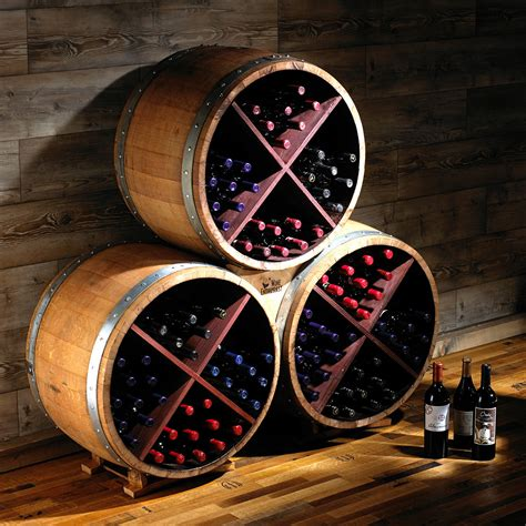 Reclaimed Half Barrel Wine Rack   The Green Head