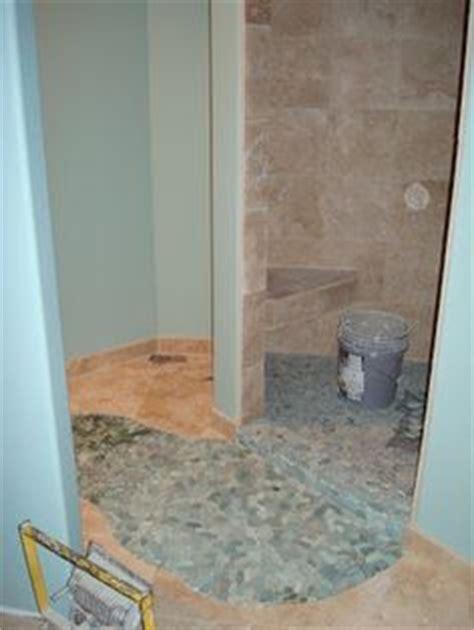 Bathroom Floor Tile Problems 1000 Images About Pebble Shower Floor On