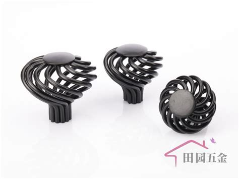 black metal drawer handles 40mm european black iron birdcage cabinet black
