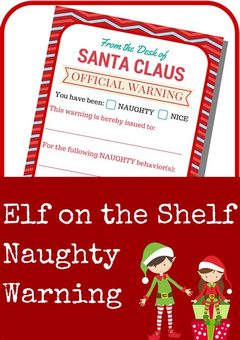 printable elf on the shelf warning letter elf on the shelf naughty warning letter a grande life