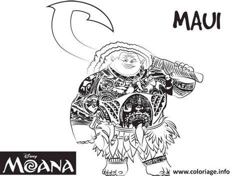 Coloriage Maui Strong Man De Vaiana Moana Disney Dessin