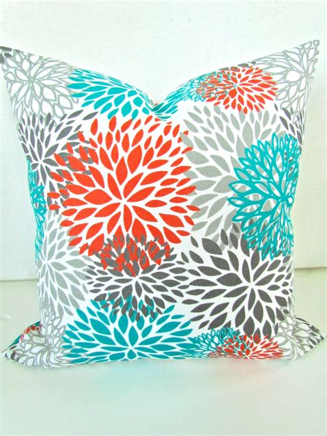 teal and orange decorative pillows pillows orange teal throw pillow covers outdoor teal turquoise