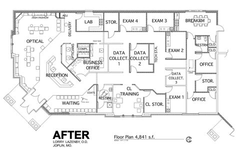 layout of back office practice floor plan optometry pinterest