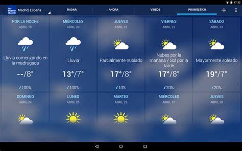 imagenes de weather en ingles tiempo the weather channel aplicaciones de android en