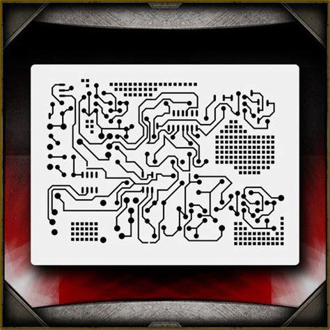 Circuit Board 1 Airbrush Stencil Template Airsick Circuit Board Template