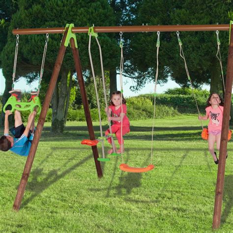 glider for wooden swing set trigano jardin bayano swing and glider set all round fun