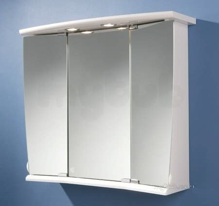 illuminated mirrored bathroom cabinets hib 41600 white alata illuminated bathroom cabinet with