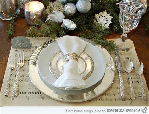 dinner table setting 20 christmas table setting design ideas home design lover