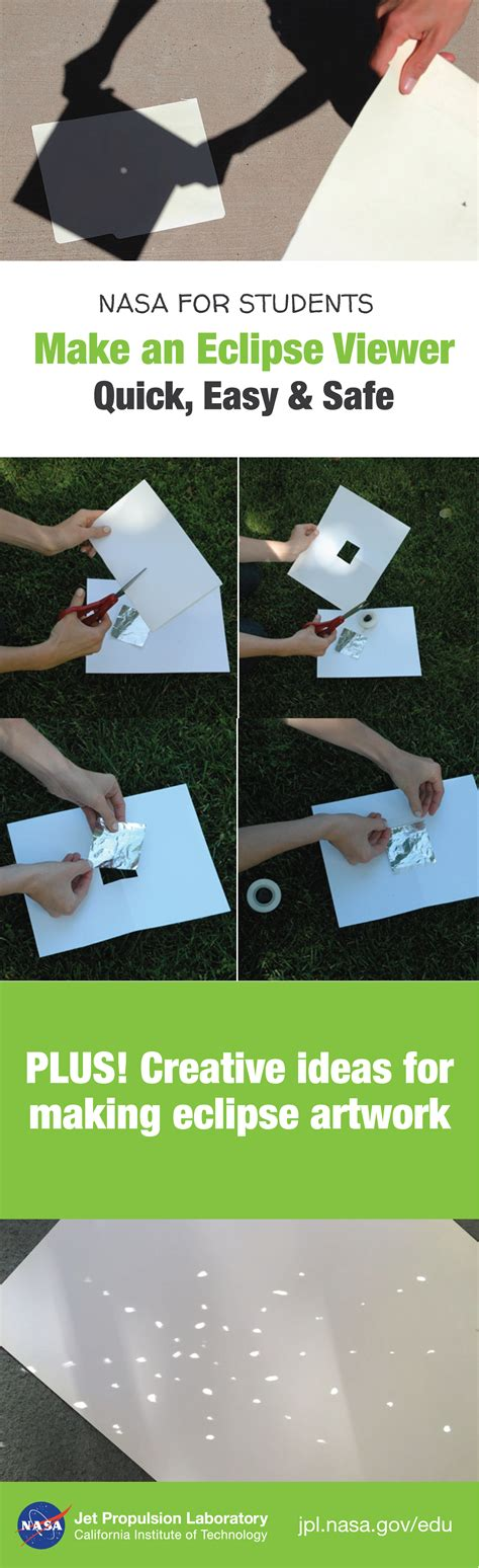 make pinhole make your own pinhole to safely view a solar