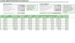 amortization schedule excel template planning excel templates planning templates