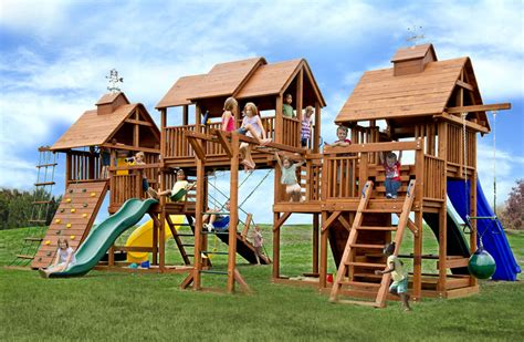 swing set components adventure mountain big swing set with 4 slides play decks