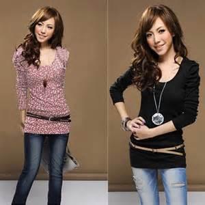 Fashion women s cotton o neck long sleeve t shirt casual modern style