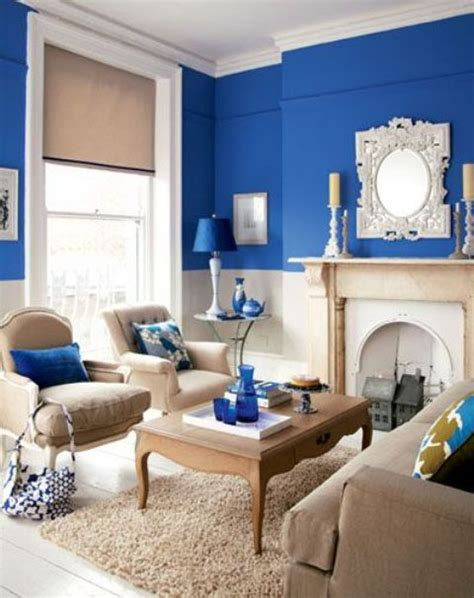 blue walls living room 26 cool brown and blue living room designs digsdigs