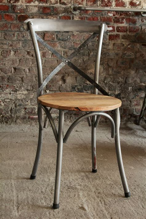 chaise bistrot bois industrial furniture bistro chair in wood and metal barak 7