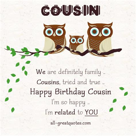 Birthday Quotes For Cousins Share Great Free Birthday Cards For Cousin On Facebook