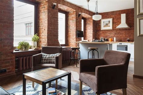 exposed brick apartments studio apartment stays authentic by keeping its brick