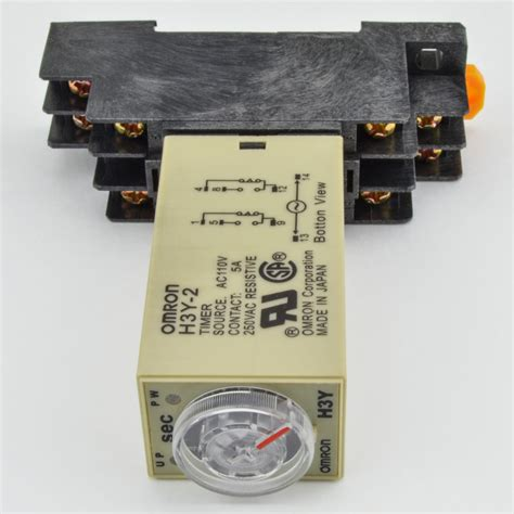 Timer Relay Omron H3y 2 By Wobble 1 pc h3y 2 omron 120vac timer relay dpdt 8 pin 5a 10