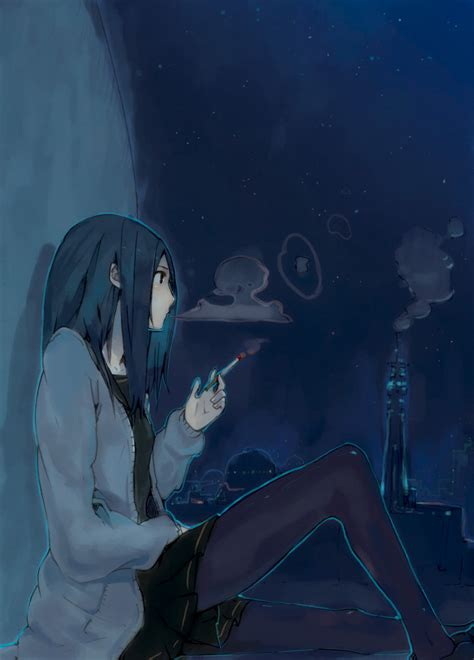 Give Me Pictures For Cool Anime Girls With Smoking Requested Anime Pictures