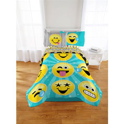 Bed Emoji by Emoji Nation Forever Happy Bed In A Bag Comforter Sheet
