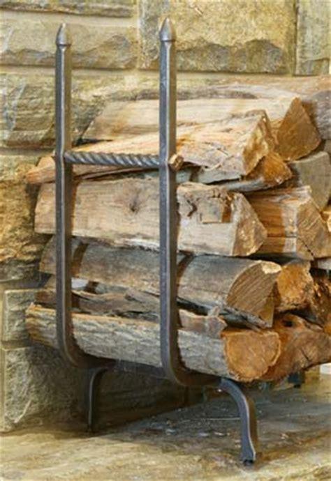 Log Holder In Fireplace by Blacksmith Custom Designed Fireplace Log Holder