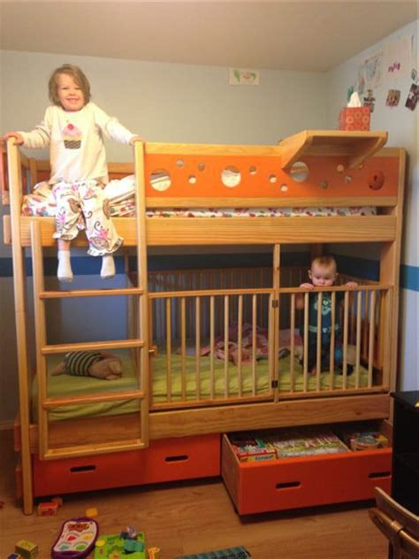 crib bunk bed twin over twin with crib so cool moving back home