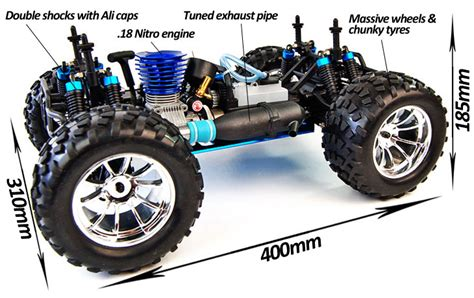 Rc Nitro Car Petrol Monster Truck Buggy Radio Remote
