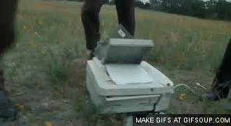 Office Space Gif Printer Smash Office Space Gif Find On Giphy
