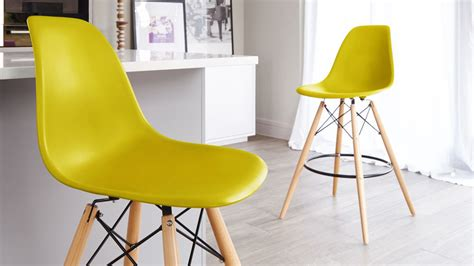 eames style bar stool yellow eames replica bar stool cool loft dsw chair white abs