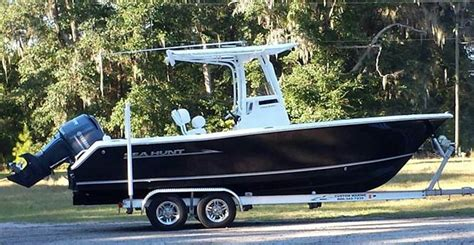 sea hunt boats accessories steve s t top boat cover on his sea hunt boat lovers direct