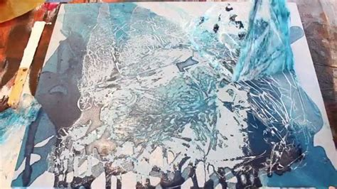 acrylic painting how to poured acrylic painting baby