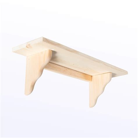 wood brackets for shelves houseworks crates and pallet small wood shelf 23in x 7in 94614 the home depot