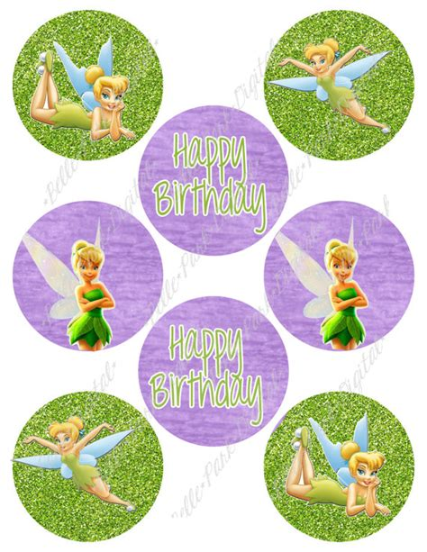 printable tinkerbell birthday decorations tinkerbell cupcake toppers printable www pixshark com