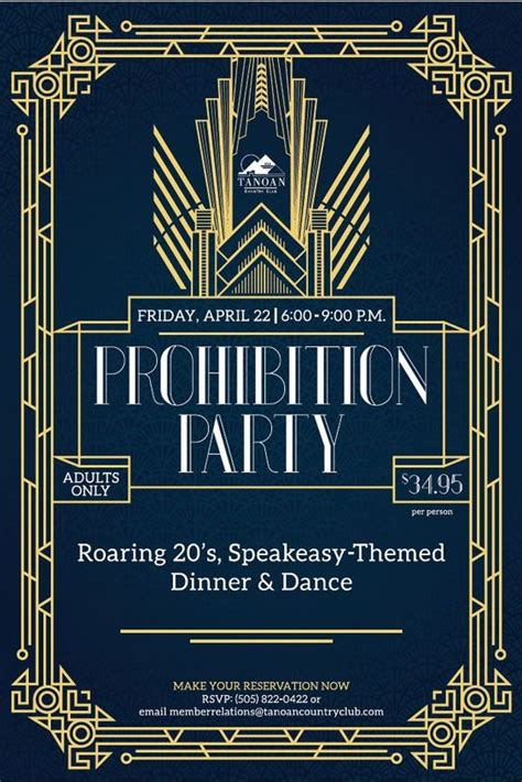 Flyers Theme Roaring 20 S Speakeasy Gatsby Theme Event Flyer Poster