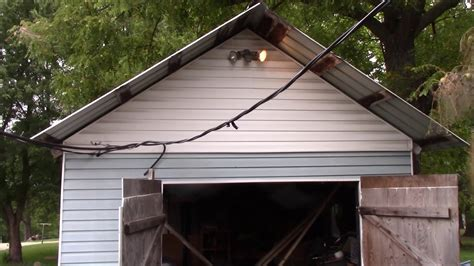 roll  door   shed youtube