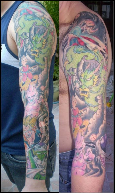 dragon ball z tattoo sleeve sleeve by chicotattoocanoas on deviantart