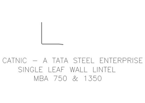 Catnic Mba Lintel by Fastrackcad Catnic Cad Details