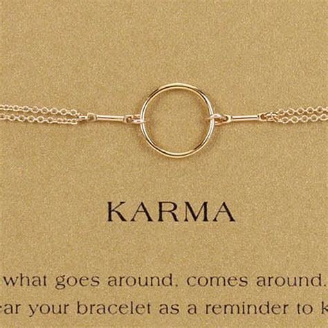 Dogeared Original Karma Bracelet Gold Dipped   eBay