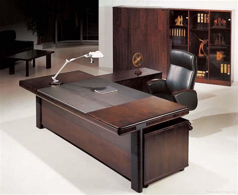 Cool Office Desk Office Workspace Dazzling Brown Wood Executive