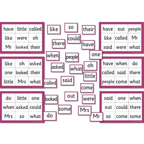 printable phonics games phase 5 phase 4 5 tricky word bingo clever idea for a short