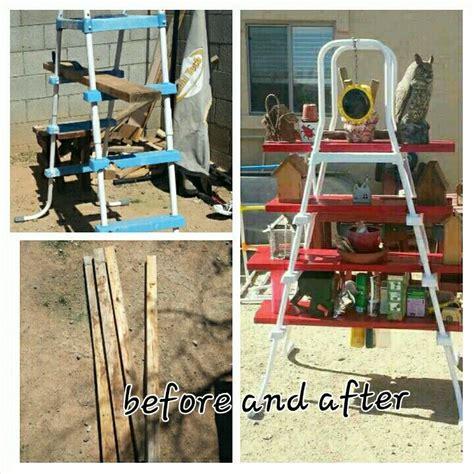 Piscine Hors Sol 3492 by Repurposed Pool Ladder Scrap Lumber Boom No More