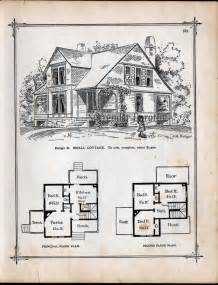 Small Victorian Cottage Plans 1881 small country cottage plans antique victorian print