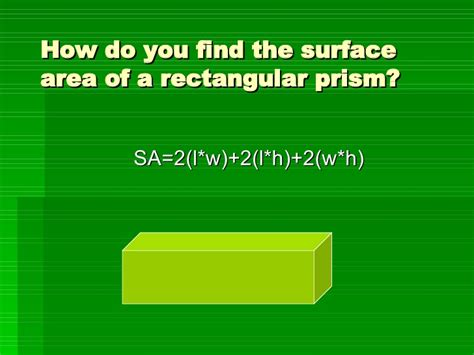 How Do U Find How Do You Find The Surface Area Of A Rectangular Prism