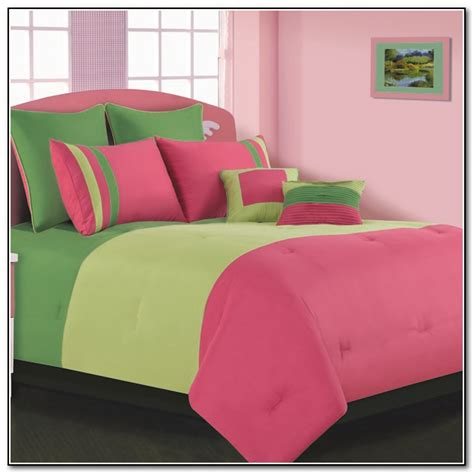 Lime Bedding Sets Pink And Lime Green Bedding Sets Beds Home Furniture Design Pink And Green