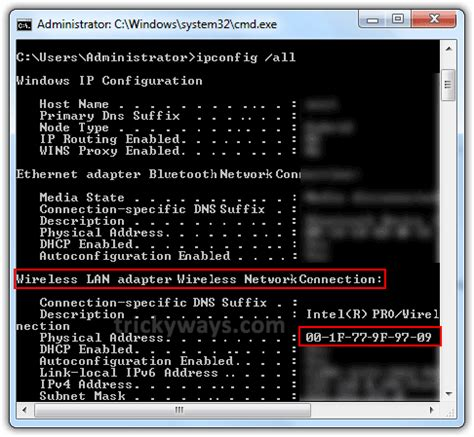 Mac Address Lookup Windows Vista Windows Mac Address Command
