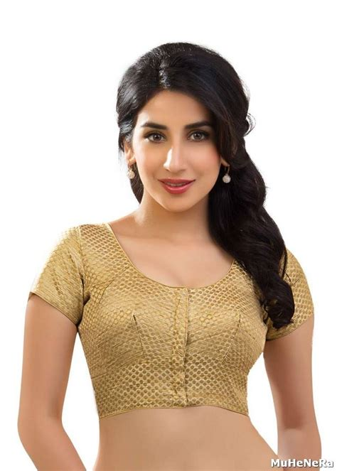 golden color blouse buy gold brocade readymade blouse