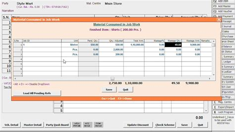 Job Work Management In Busy Hindi Youtube Production Rate Card Template