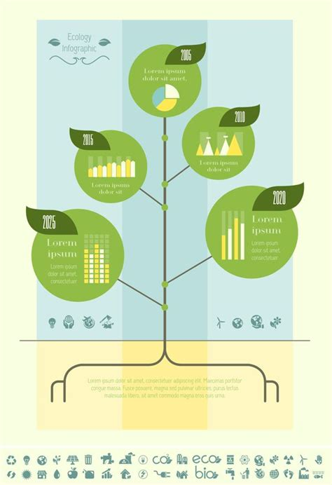 23 Best Ecology Infographics Templates Flat Design Images On Pinterest Apartment Design Family Tree Template Info Graphics