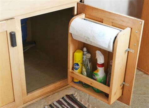 diy under cabinet storage diy paper towel holder under sink storage ideas to buy